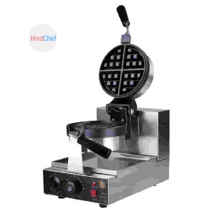 Rounded waffle machine