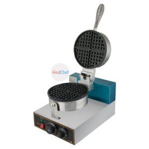 Round Belgian waffle machine