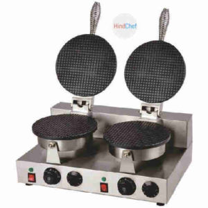Double waffle maker